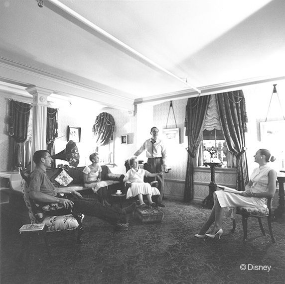 Walt's apartment in Disneyland, 1957 | 23 Incredible, Rarely-Seen Photos From The Disney Archives