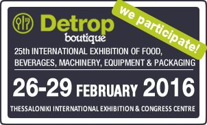 This week find us at Detrop boutique & Artozyma 2016 at Hall 9 Stand 38! Join us! #Thessaloniki TIF Helexpo