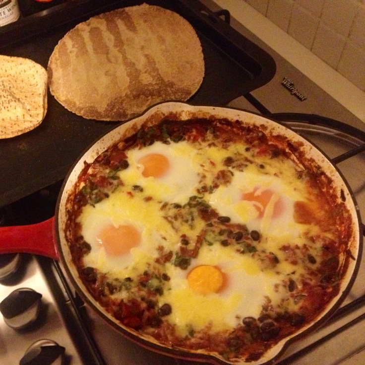 Mexican baked eggs | For Pyrmont Palace | Pinterest