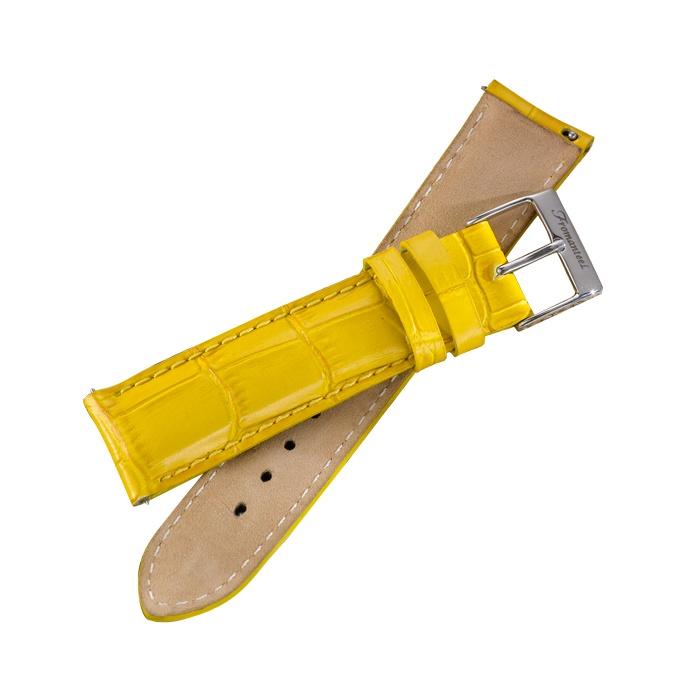 Fromanteel horlogeband geel leer | goedkope horlogebanden http://www.kish.nl/Fromanteel-horlogeband-geel/