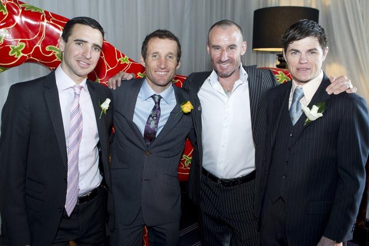 Racing Stars Michael Rodd, Damien Oliver, Glen Boss and Craig Williams
