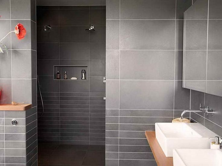 77 best SALLE DE BAIN images on Pinterest Bathroom, Bathrooms and - salle de bain carrelage ardoise