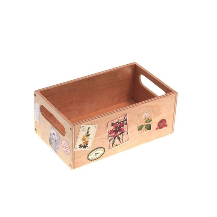 Wooden Storage Box – Floral Theme
