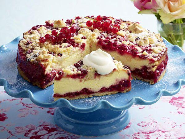 Quarkkuchen mit Johannisbeeren backen  - so geht's - quarkkuchen-rezept10  Rezept