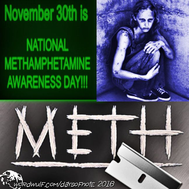 http://wordwulf.com/daysofnote ~Today is National Methamphetamine Awareness Day~