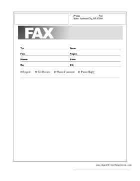 The basic information of recipient, sender, page number and contact information are listed in this printable basic fax cover. Free to download and print