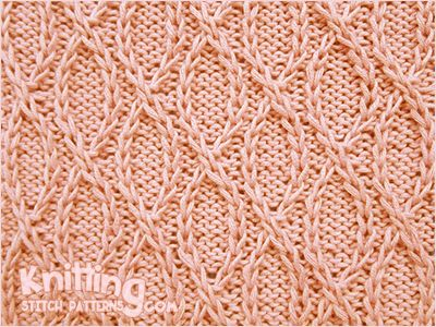 Crossed Loops (twisted traveling stitch). Written instructions