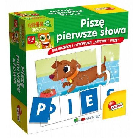 """Witajcie,   Piszę Pierwsze Słowa - 2 Gry Lisciani P54992 do nauki czytania i pisania dla dzieci od 3-6 lat.   Dziecko układa pierwsze słowa, używając auto korygujących puzzli: każdemu słowu przypisany jest odpowiedni obrazek.  Dziecko również może grać z przyjaciółmi w zabawną loteryjkę """" czytam i piszę"""".  Sprawdźcie sami:)  http://www.niczchin.pl/cyferki-literki-dla-dzieci/2926-lisciani-p54992-pisze-pierwsze-slowa.html  #lisciani #piszepierwszeslowa #czytaniepisanie #zabawki"""