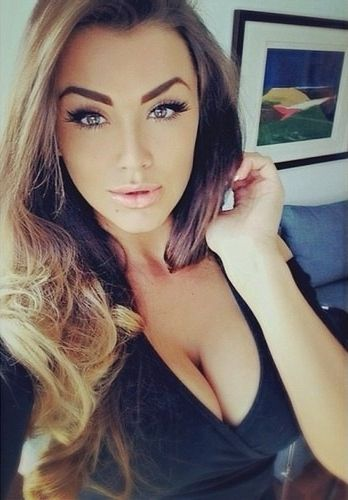 sexy girl with nice tits and pretty lips