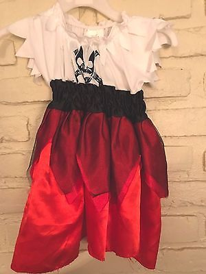 Girls Pirate Dress Baby Halloween Costume With Skull 12 Months Size