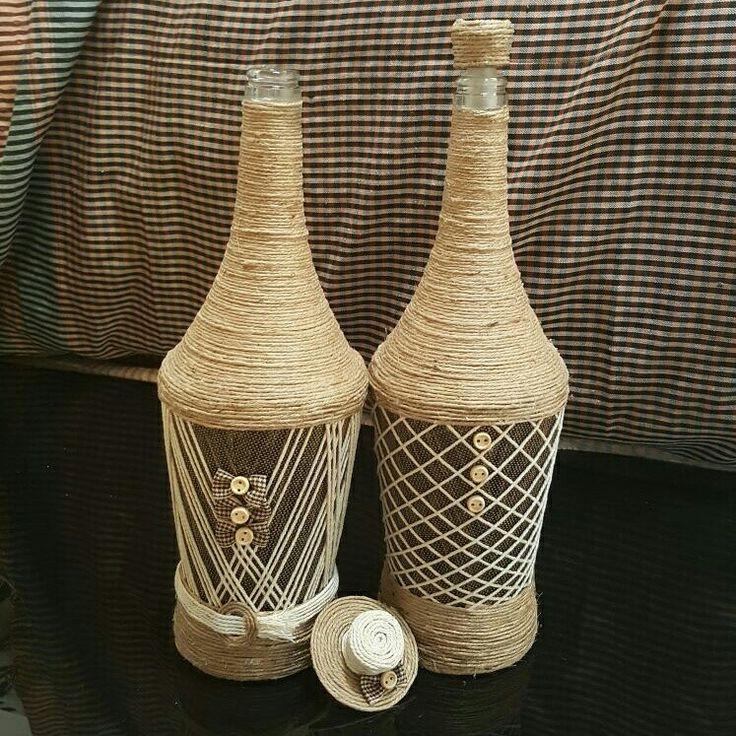 Bottle set Mr and Mrs Smith ❤