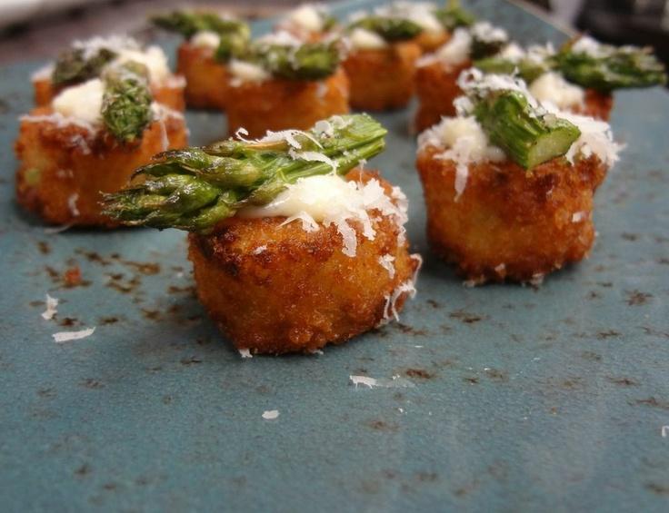 Asparagus & Lemon Risotto Cakes