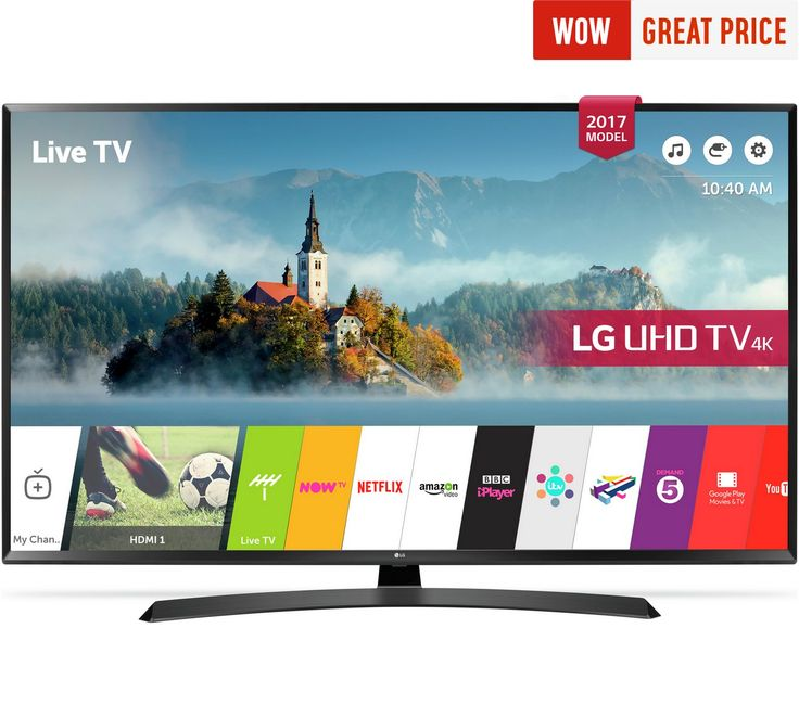 Buy LG 55UJ635V 55 Inch Smart 4K Ultra HD TV with HDR at Argos.co.uk, visit Argos.co.uk to shop online for Televisions, Televisions and accessories, Technology