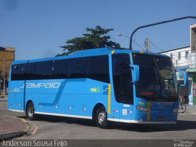 Ônibus da empresa Viação Sampaio, carro 9836, carroceria Busscar Elegance 360, chassi Mercedes-Benz O-500RS. Foto na cidade de Macaé-RJ por Anderson Sousa Feijó, publicada em 28/06/2017 16:53:24.