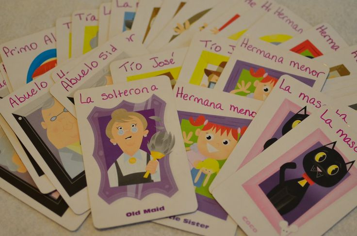 Family (La Familia) Lesson Plan with lots of activities including using Old Maid…