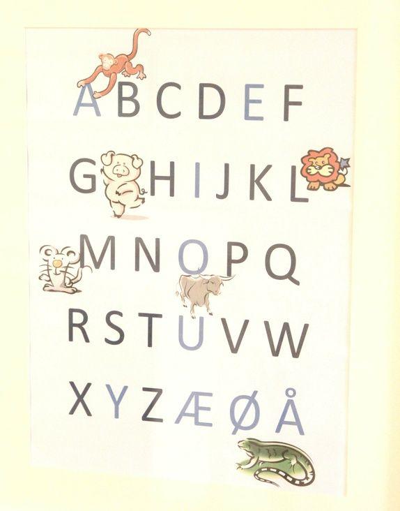 Alfabetet gutt - Epla