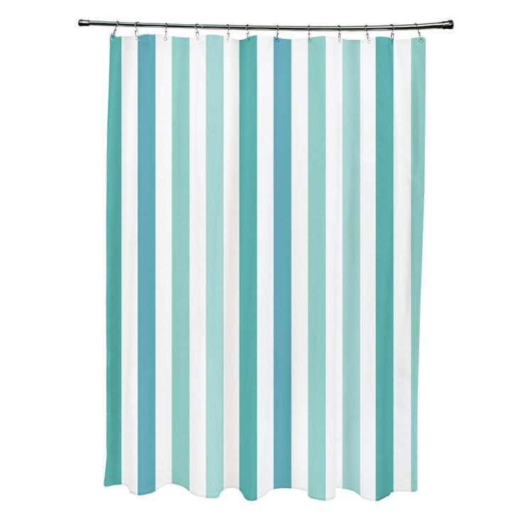 teal striped shower curtain. 71 x 74 inch Jade and Bahama Striped Shower Curtain  Overstock Shopping The 142 best Curtains Towels Accessories images on