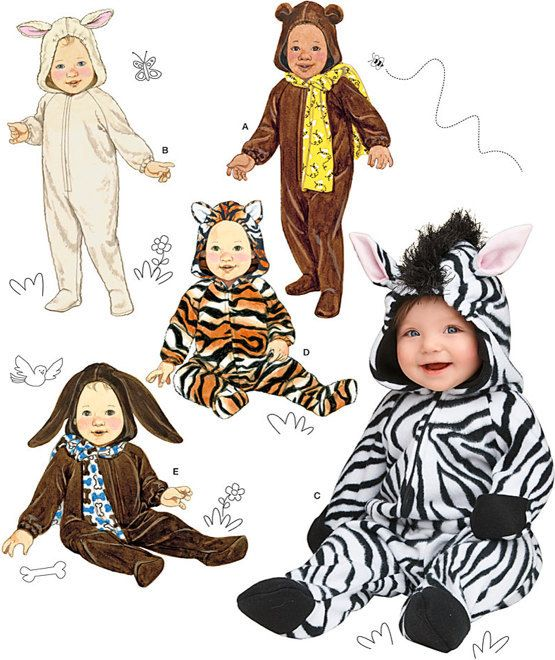 baby halloween sewing pattern dog bear lamb zebra cat costumes - Baby Halloween Costume Patterns