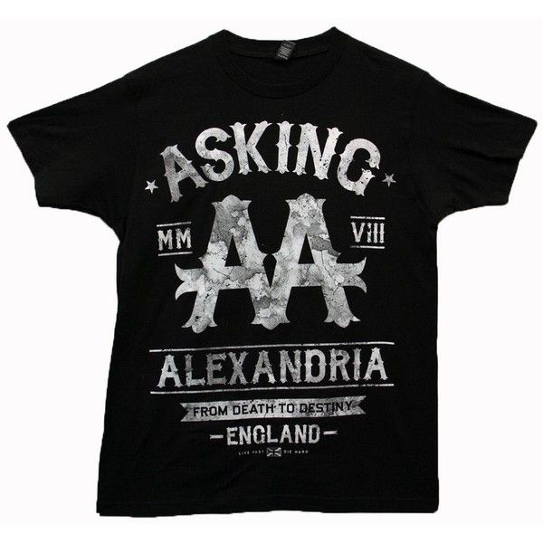 Asking Alexandria Black Label Tour T-shirt (3.820 HUF) ❤ liked on Polyvore featuring tops and t-shirts