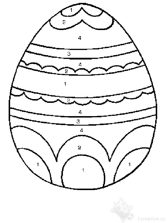 Easter Egg Coloring Pages Free Easter Egg Pictures To