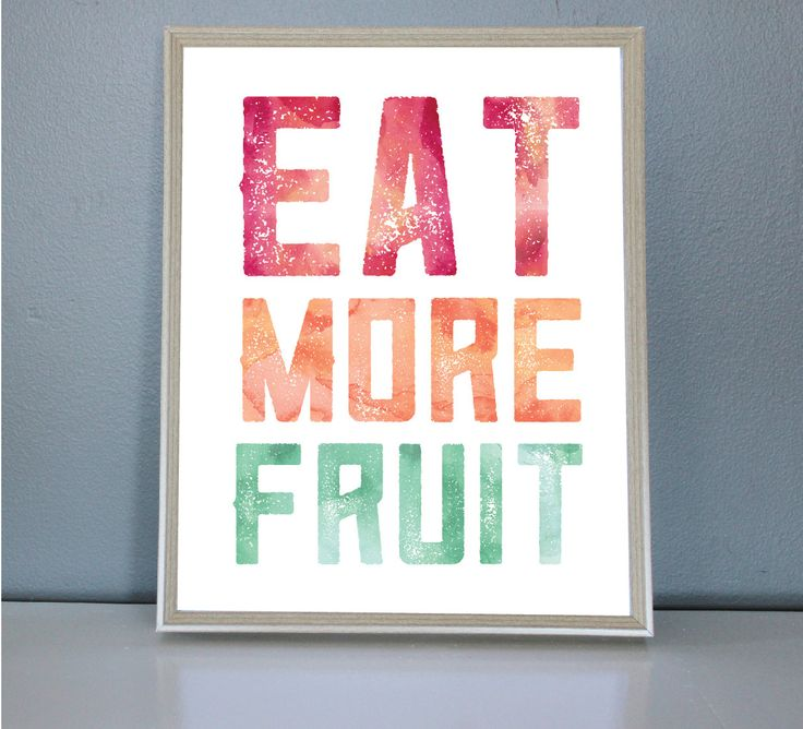 Eat More Fruit - Wall/Art Print 8X10, 11X14 by PrettyPaperPlaceShop on Etsy
