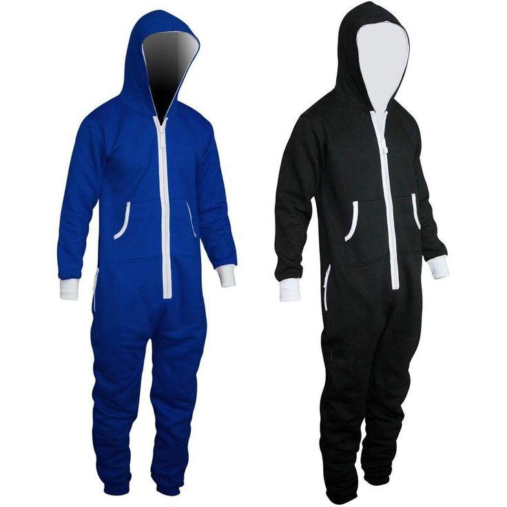 Adults Men Jumpsuit Zipper Hoodie Tracksuit Onesie Pajamas