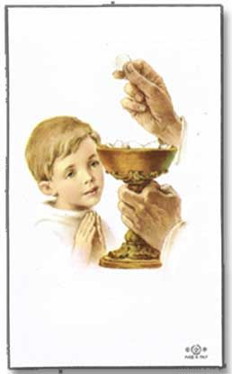 Personalized First Communion Holy Cards Boy 25003