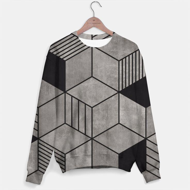 Random Concrete Cubes Sweater, Live Heroes