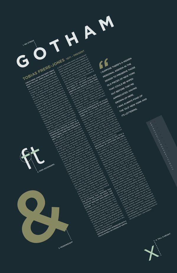 Font Study  Gotham by Sally Carmichael  via Behance