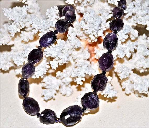 Gorgeous Faceted Amethyst Nugget Necklace by HHartsockDesigns
