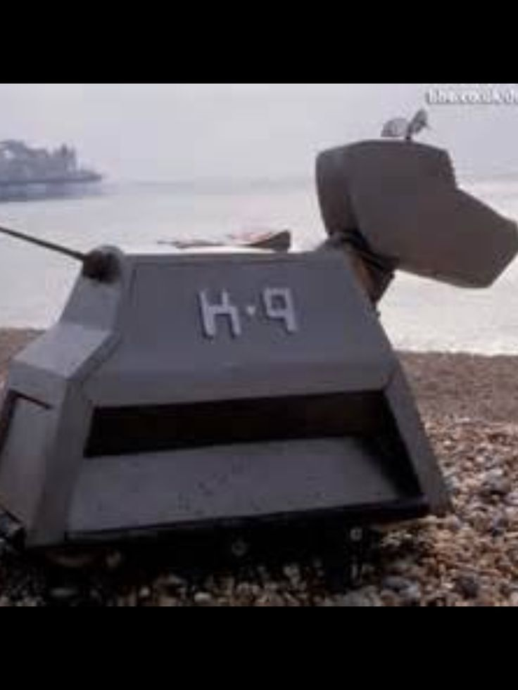 The enemy! K-9! No, I love Dr Who and so do my cats!