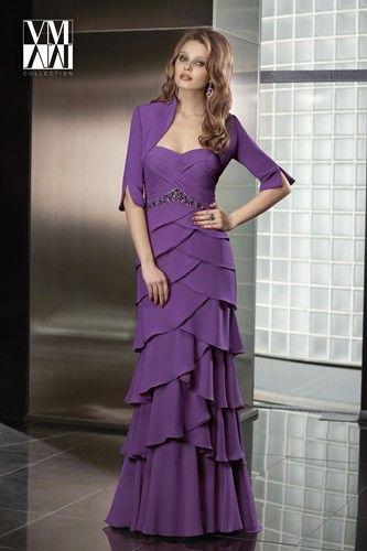 Full length formal daywear design from VM by Mori Lee