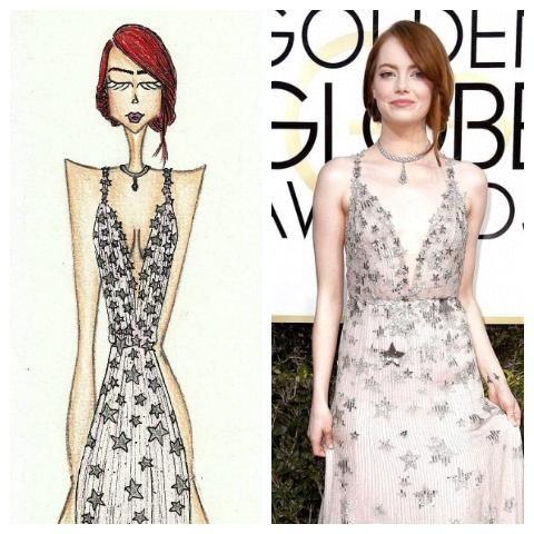 Emma Stone - Golden Globe Dress: Valentino