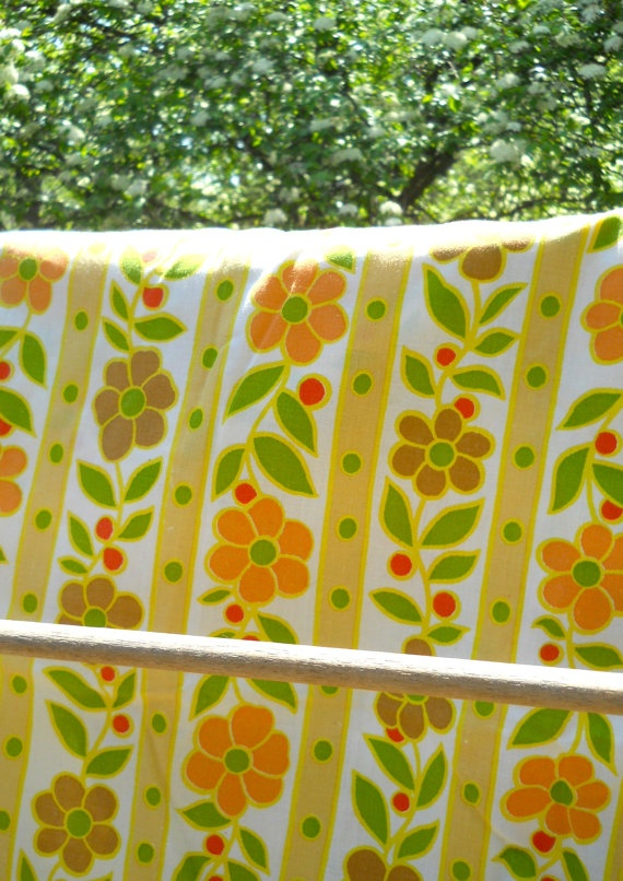 Vintage Spring and Summer Flowers Linens  Fitted Sheet by ModDom, $12.00