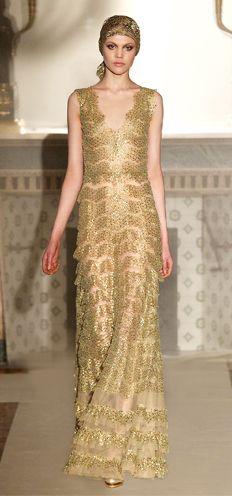 Luisa Beccaria gorgeously golden www.finditforweddings.com