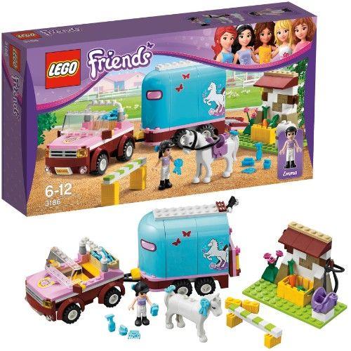 LEGO 3186 Friends: Geländewagen mit Pferdeanhänger