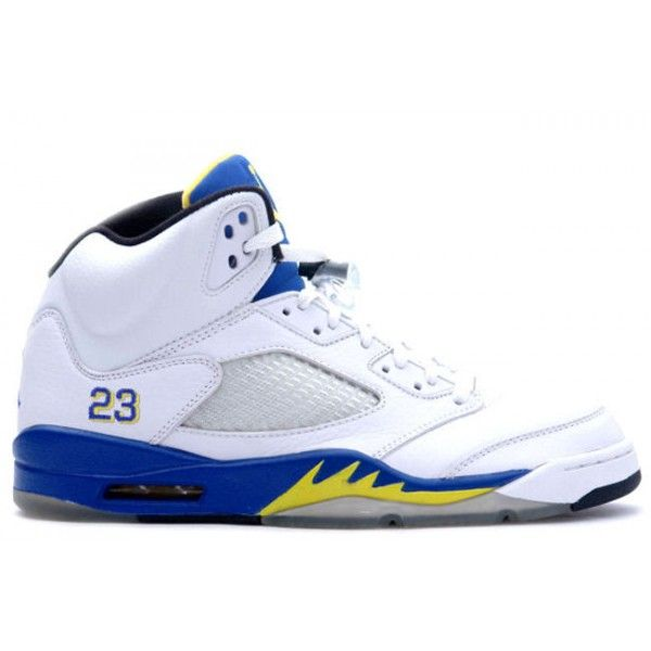 Nike Air Jordan 5 Phat Retro Laney White Varsity Royal And Varsity Maize -  Nike Air Jordan