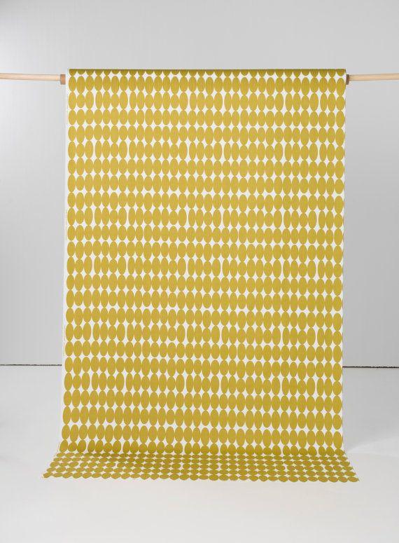 Mustard Yellow Drapes Yellow Drapes Rod Pocket Lined by Kuushti