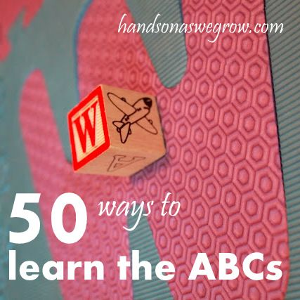 50 ways for preschoolers to learn to recognize letters and letter sounds.