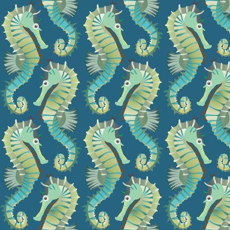 seahorses on parade fabric by bippidiiboppidii on Spoonflower - custom fabric