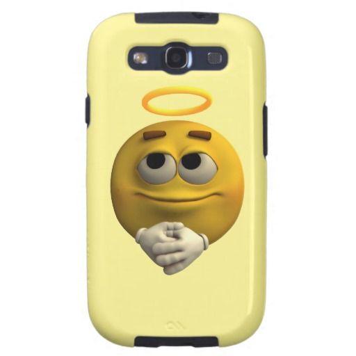 Angelic Emoticon Samsung Galaxy S3 Case