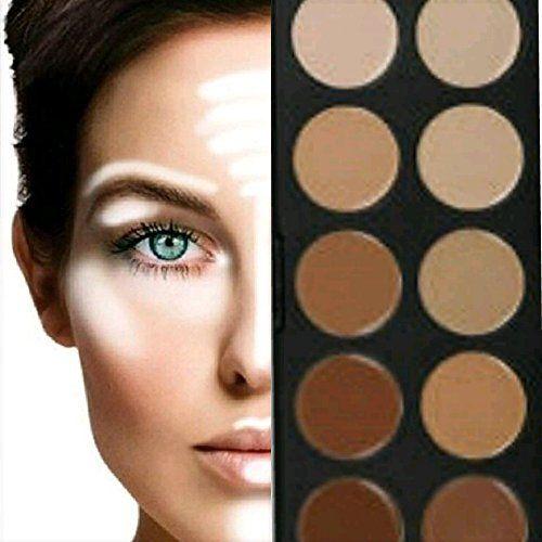 BOOLAVARD 10 + 5 Colori Concealer Palette Make Up Palette Cosmetic Makeup Cream Concealer Correttore con la Scatola Nera