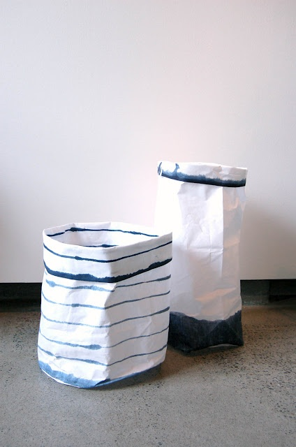 "khadi & co. laminated hand woven cotton ""baskets"""