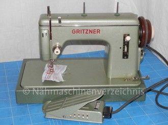 Gritzner GX, Flachbett Geradestich-Nähmschine, Anbaumotor, Hersteller: Gritzner-Kayser AG Nähmaschinen - Mopeds - Fahrräder Karlsruhe-Durlach (Bilder: M. Maag)