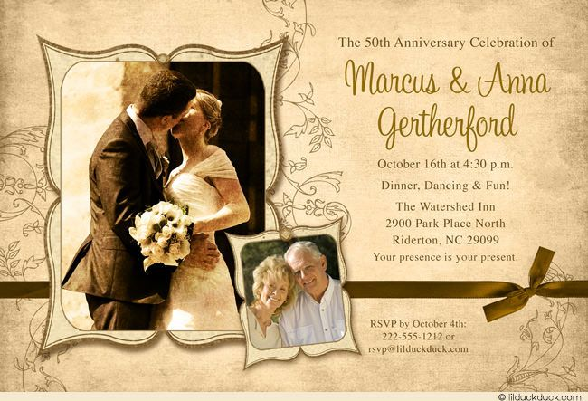 Wedding Celebration Invitation: 17 Best Images About Vintage Modern 50th Anniversaries On