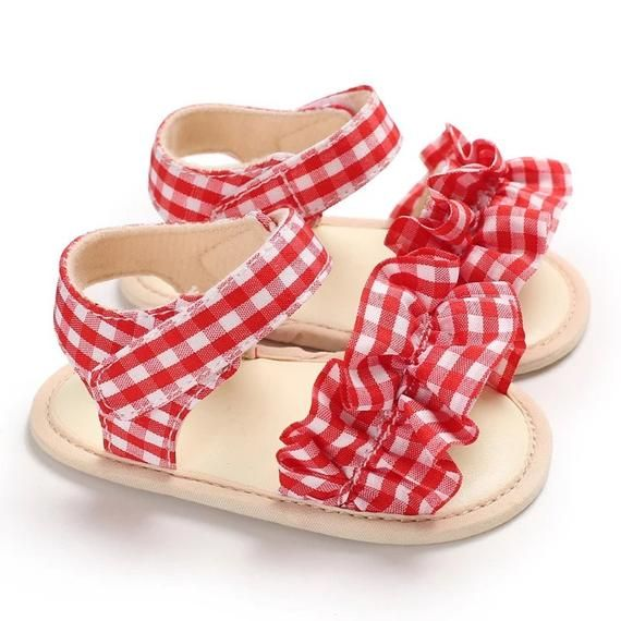 Red Baby Sandals Baby Flats Baby Girl
