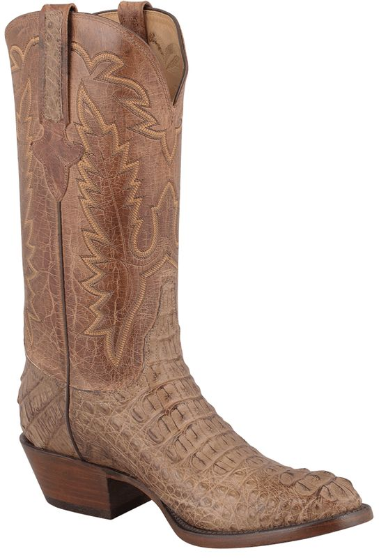 Lucchese Men's Tan Mad Dog Hornback Caiman Boots - Pinto Ranch