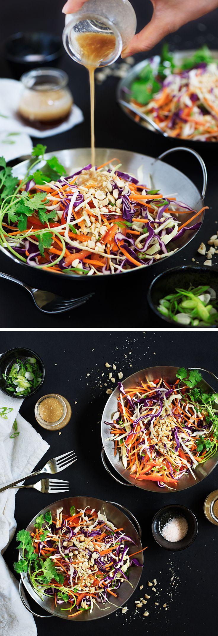 Asiatischer Krautsalat mit Erdnuss-Ingwer-Dressing…
