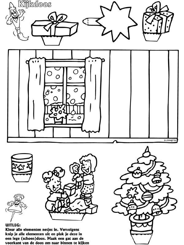 Kerstmis - Kijkdoos - Knutselpagina.nl - knutselen, knutselen en nog eens knutselen.