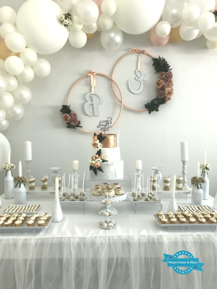 Pin By Kim Brown On Wedding Shower Ideas Bridal Shower Decorations Elegant Baby Shower Engagement Decorations